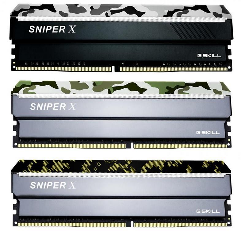 Nuevas memorias G.Skill Sniper X con diseño militar