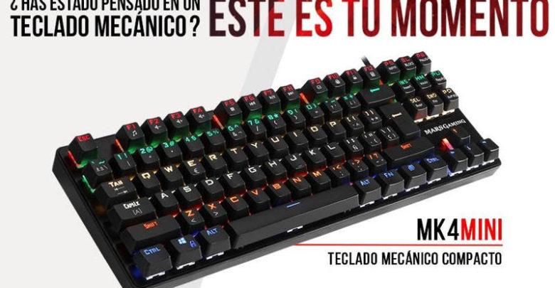 Photo of Mars Gaming MK4 MINI, el primer teclado mecánico TKL de la compañía