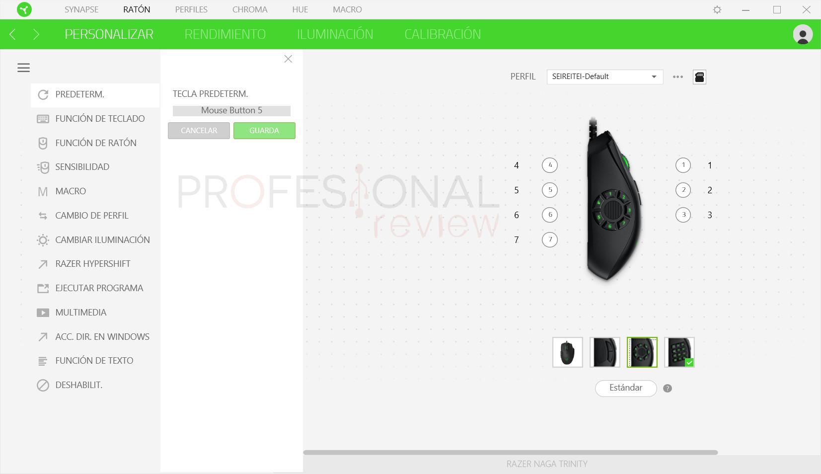 Razer Naga Trinity Review software