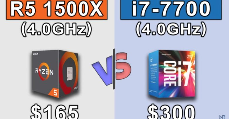 Photo of Ryzen 5 1500X vs Core i7 7700 con GeForce GTX 1080Ti