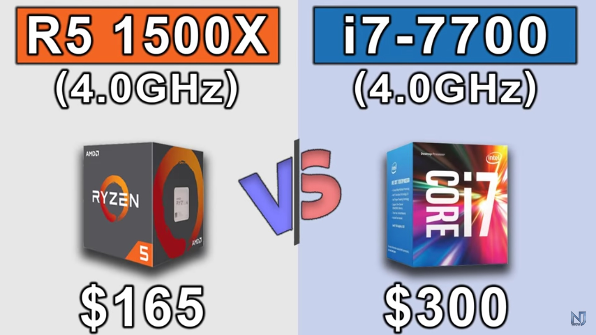 Ryzen 5 1500X vs Core i7 7700 con GeForce GTX 1080Ti