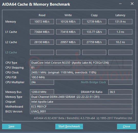 ECS LIVA Q benchmark