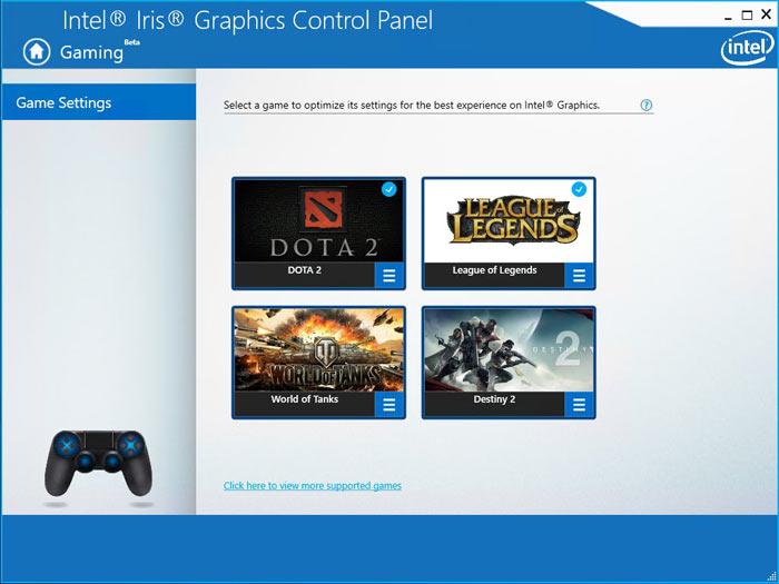 Intel añade un panel de control para optimizar juegos