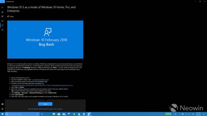 Windows 10 mode S para mejorar la seguridad