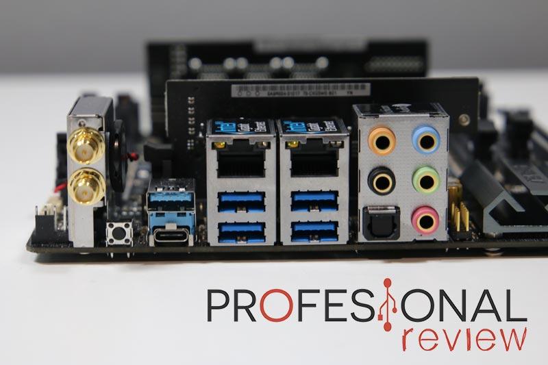 ASRock X299E-ITX/ac panel trasero