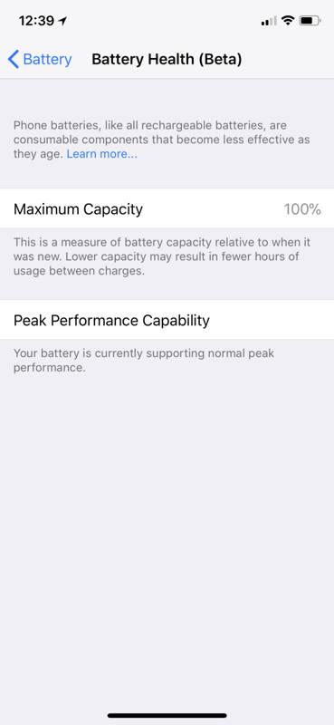 iOS 11.3 monitor del estado de la batería