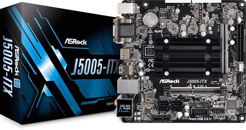 ASRock J5005-ITX con Pentium Silver J5005