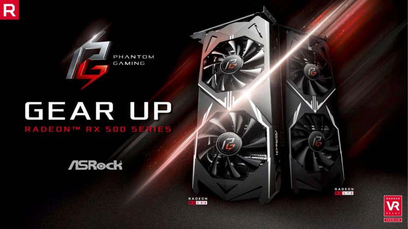 ASRock Radeon RX 500 Phantom Gaming