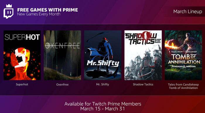 Anunciados los juegos gratis con Twitch Prime