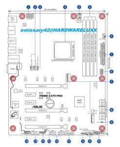 Así serán las placas base Asus AMD 470X