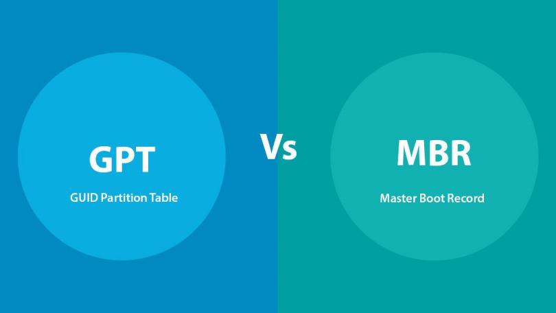 Diferencias entre MBR y GTP