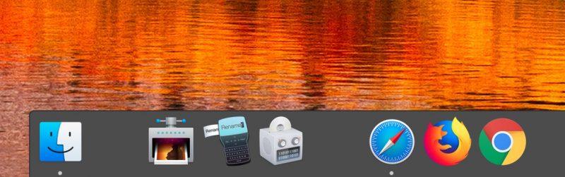 Agregar espacios al dock en Mac