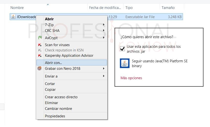 Ejecuta cualquier archivo JAR en Windows