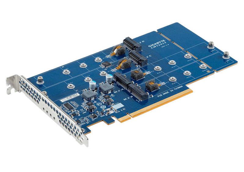 Gigabyte CMT2014 con interfaz PCI-Express 3.0 x16 y cuatro M.2
