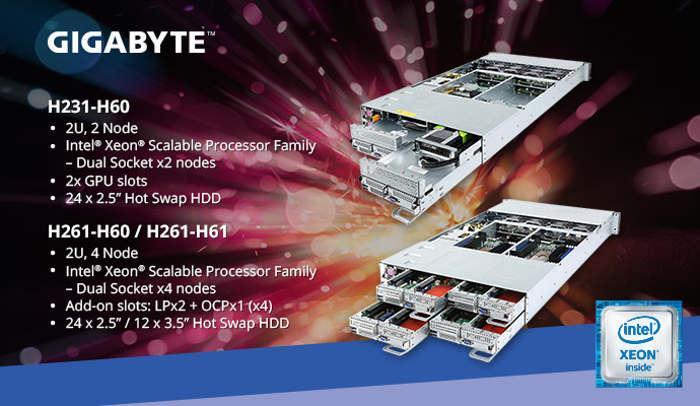 Gigabyte sigue apostando por Intel Xeon Scalable