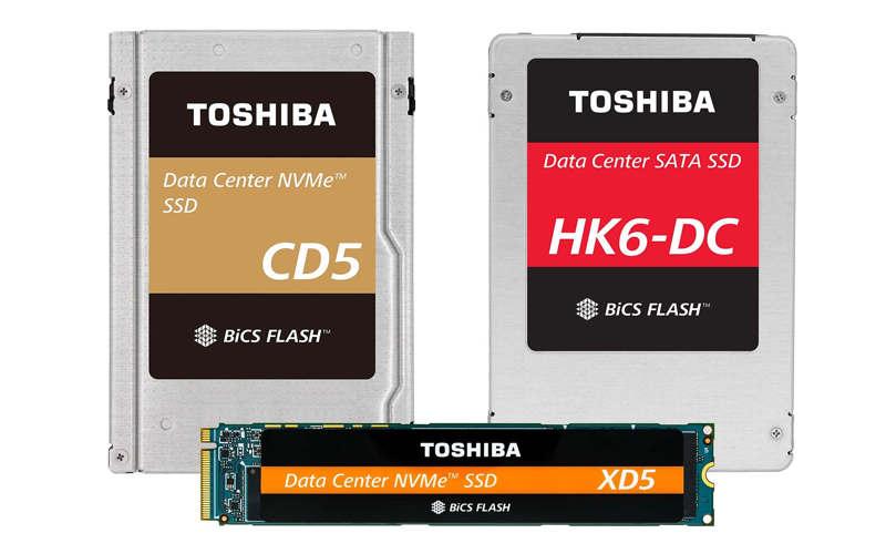Nuevos discos Toshiba con memoria NAND BiCS de 64 capas