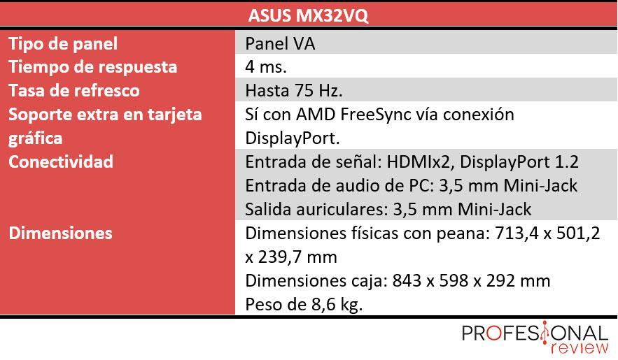 Asus MX32VQ características