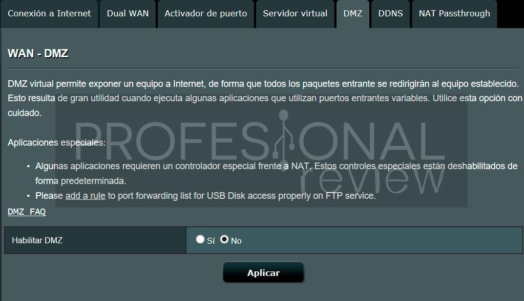 Abrir puertos del router paso02