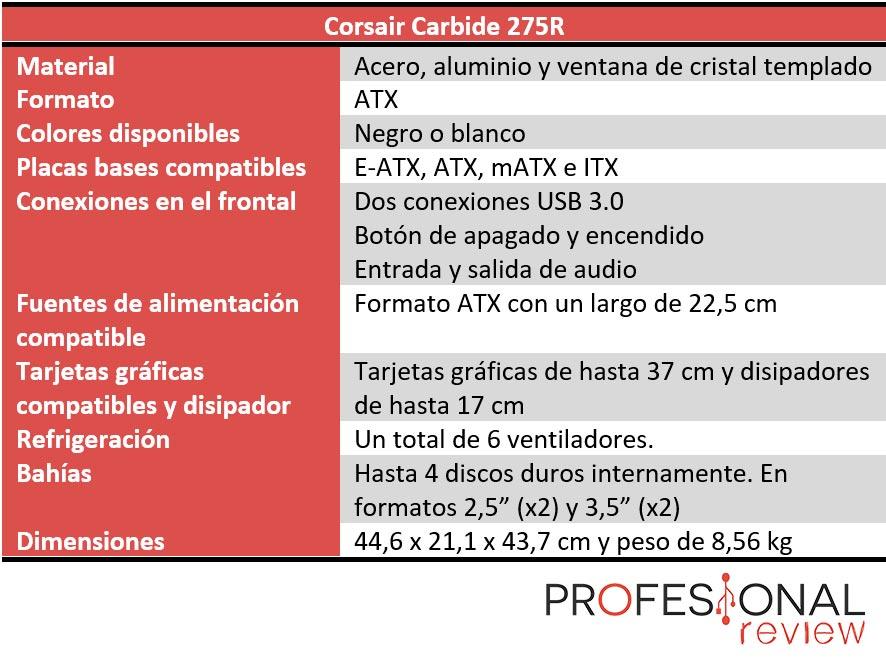 Corsair Carbide 275R características