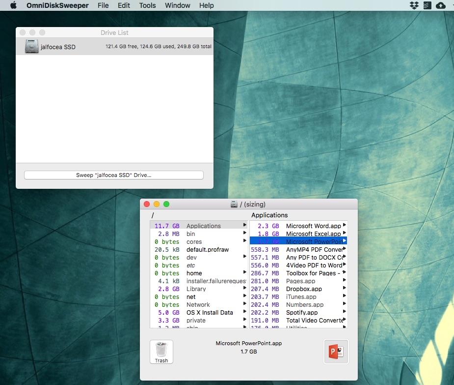 Libera espacio en tu Mac gratis con OmniDiskSweeper