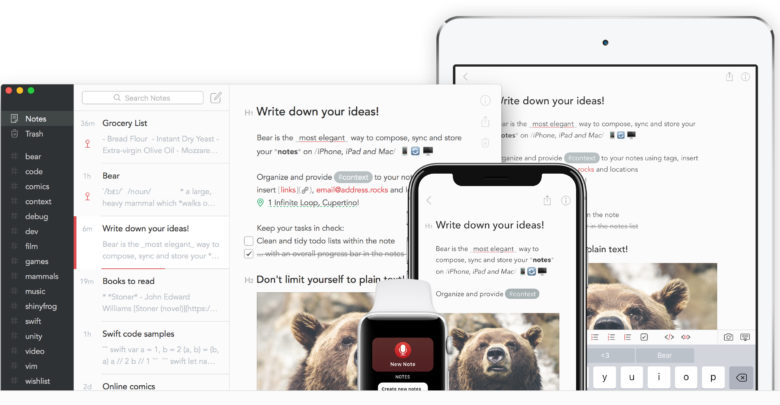 Bear Writer, ahora con función de Archivo, TagCons y mucho más