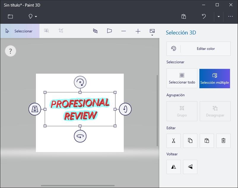Aprende a crear texto 3D en Paint 3D