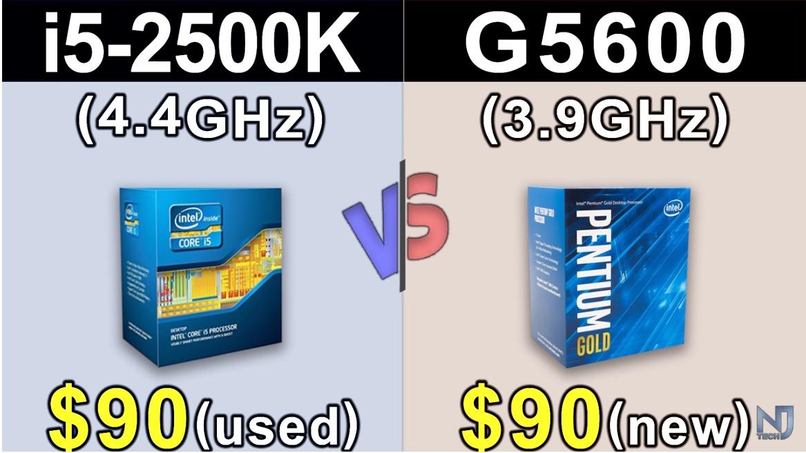 Core i5 2500K a 4,4 GHz vs Pentium G5600