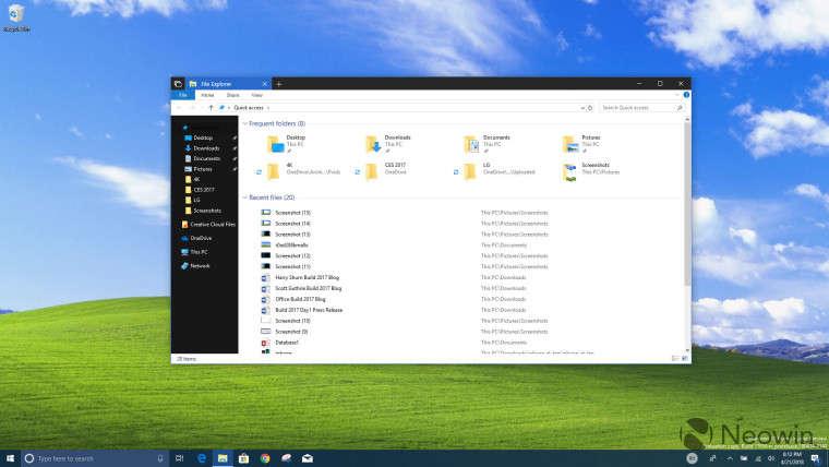 Windows 10 añadirá un tema oscuro al Explorador de Archivos