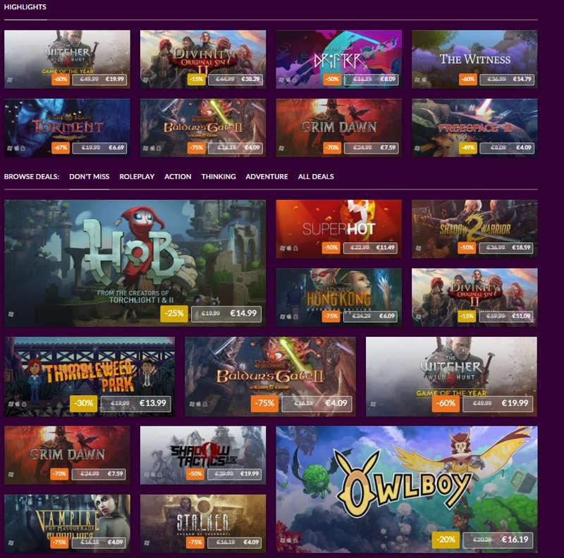 GOG rebaja más de 150 juegos