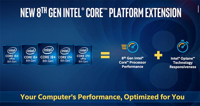 Intel Core i5+ y Core i7+ ya a la venta junto a Optane de 16 GB