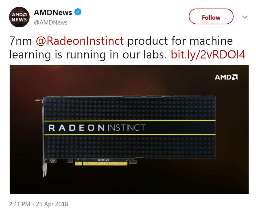 Nuevas AMD Radeon Instinct basadas en Vega 20 a 7 nm este año