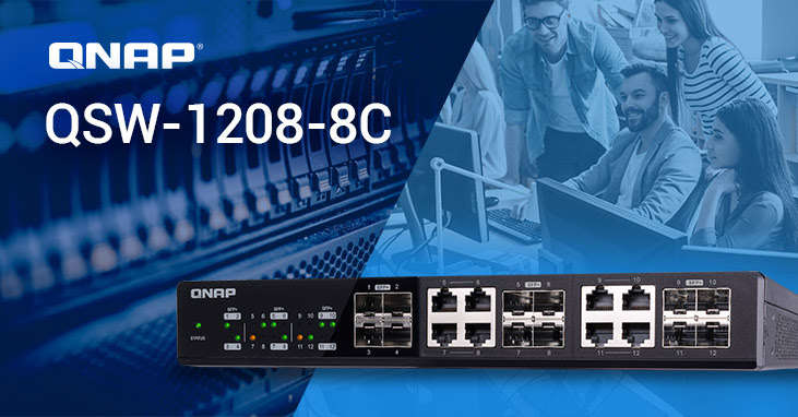 switches 10GbE QNAP QSW-1208-8C y QSW-804-4C