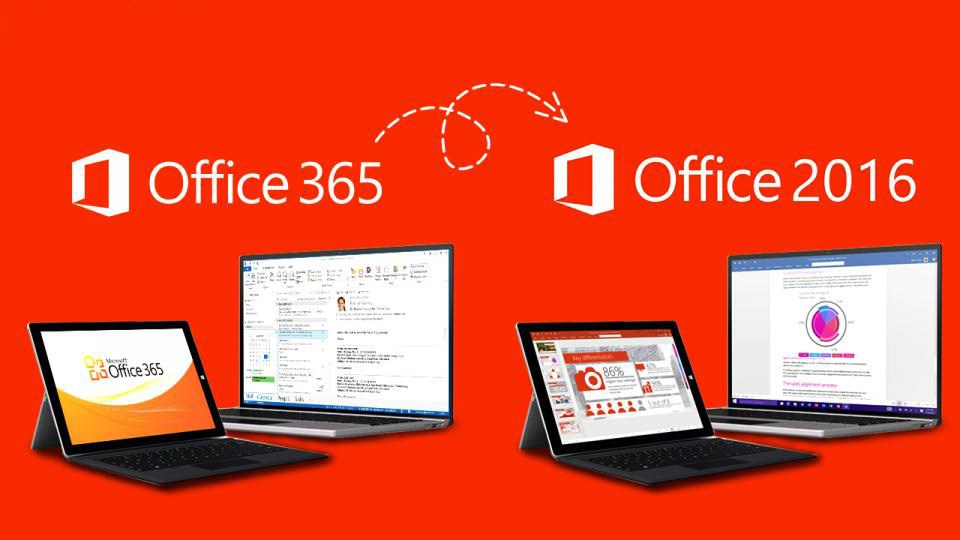 Diferencias entre Office 365 y Microsoft Office 2016