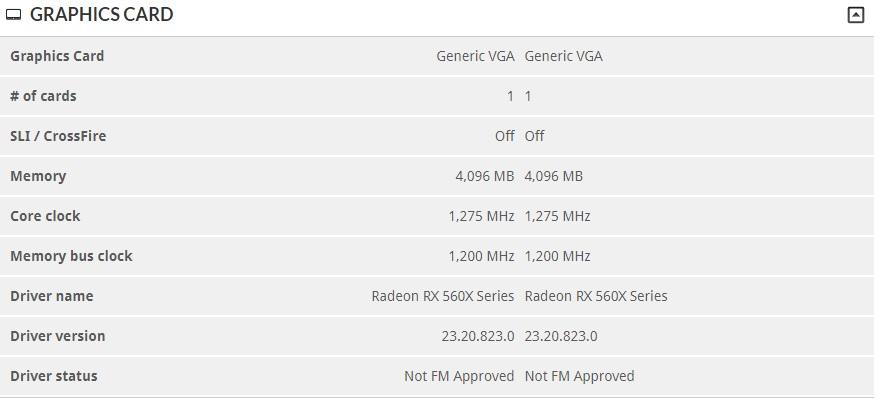 Radeon RX 560X es una tarjeta gráfica para portátiles