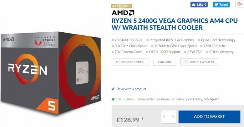 Photo of AMD baja el precio de los Ryzen 3 2200G y Ryzen 5 2400G