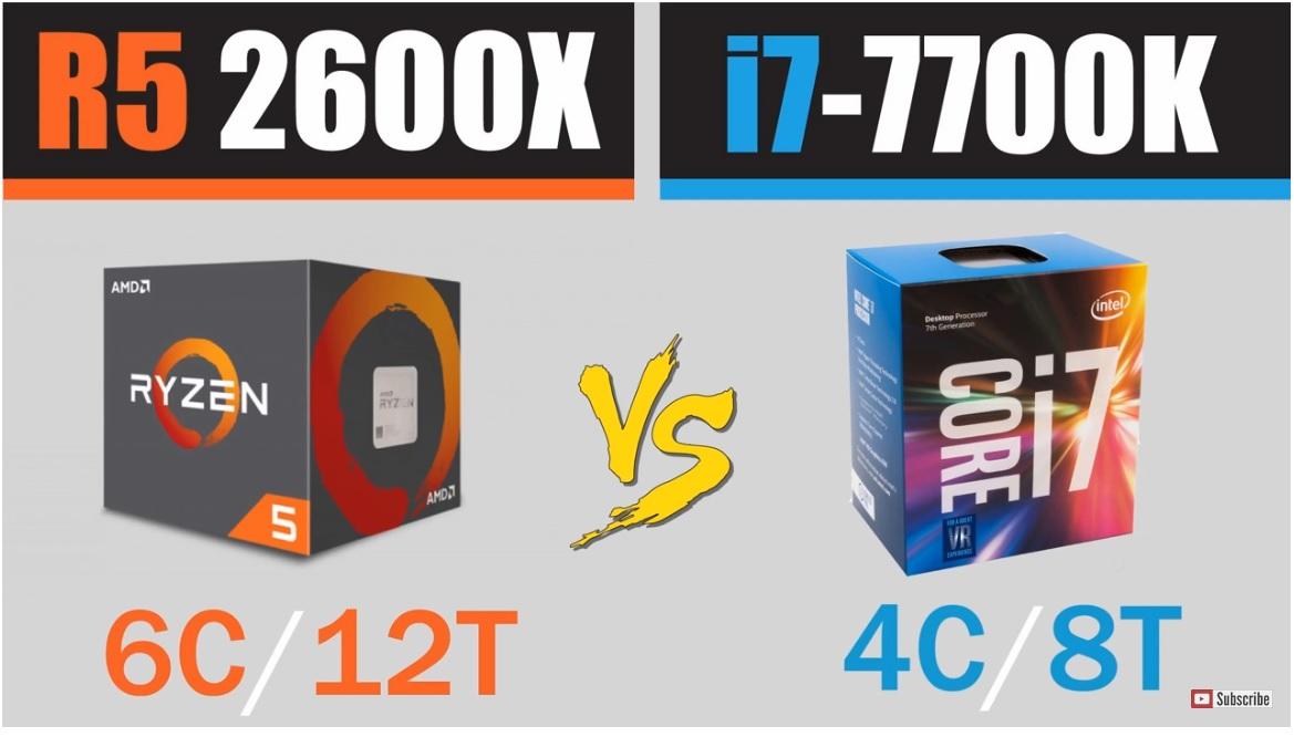 Ryzen 5 2600X vs Core i7 7700K cara a cara en juegos actuales