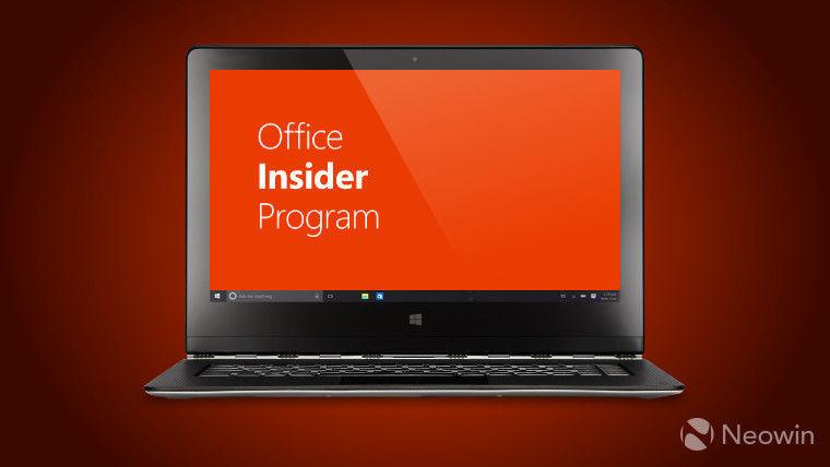 novedades de la nueva build de Office 2016 para Insiders