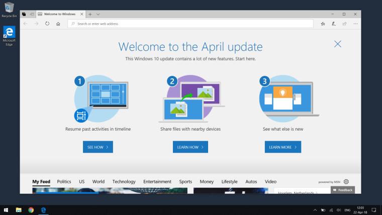 Windows 10 April Update estará disponible el próximo día 8 de mayo