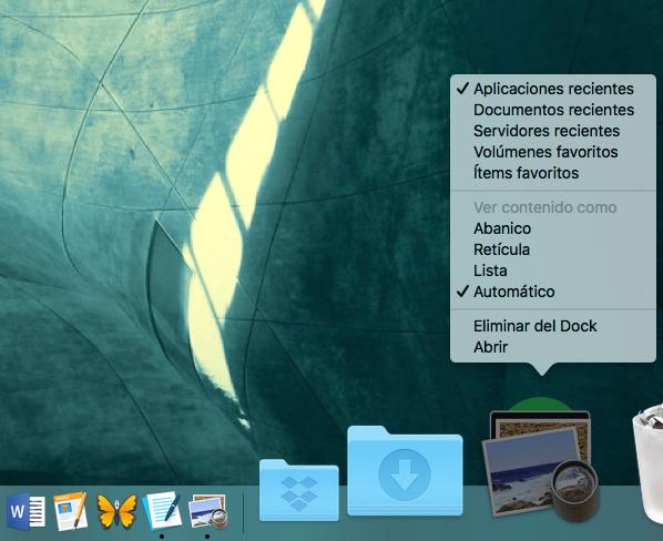 Cómo agregar una carpeta de elementos recientes o favoritos al Dock de tu Mac