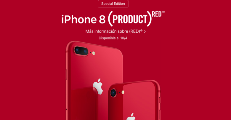 Photo of Apple lanza el iPhone 8 y 8 Plus PRODUCT (RED) Special Edition