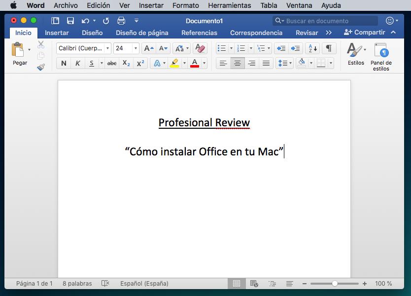 Instalar Office Mac