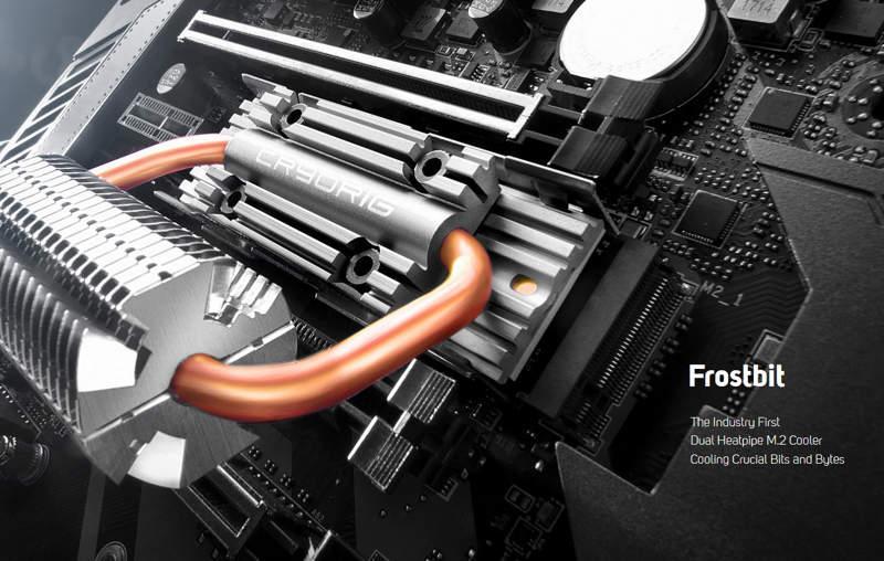 Cryorig Frostbit es el disipador más avanzado para SSD M.2