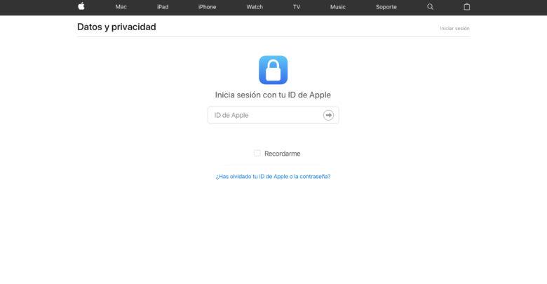 Apple lanza una nueva página sobre Datos y Privacidad