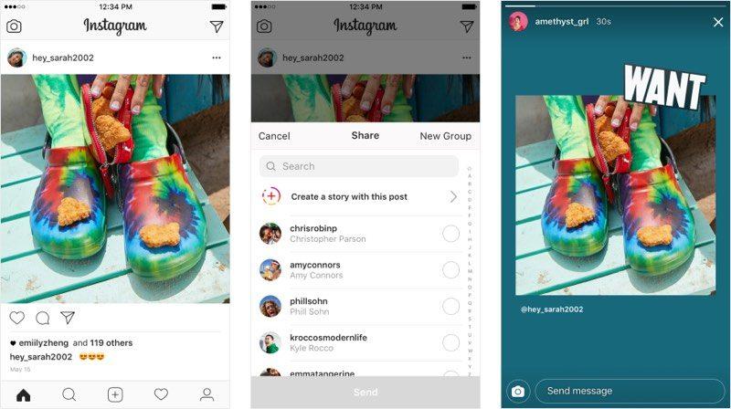 Instagram ya permite compartir publicaciones en Historias