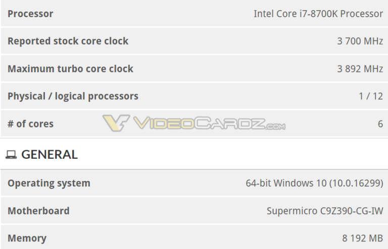 3DMARK confirma que Intel Z390 soporta los actuales Coffee Lake