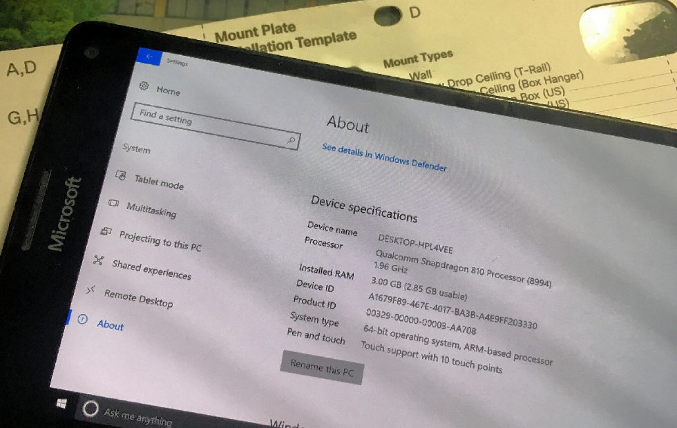 Lumia 950 XL puede correr Windows 10 ARM