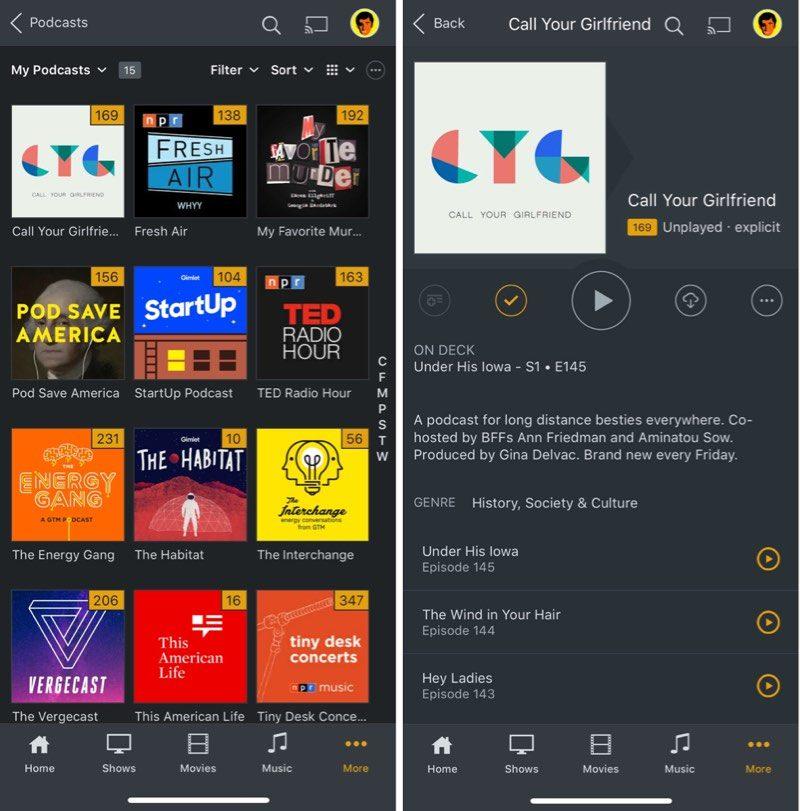 Plex lanza una nueva sección de Podcasts
