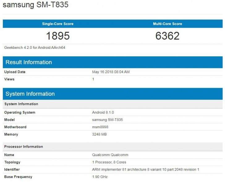 Samsung Galaxy Tab S4 se deja ver con un procesador Qualcomm Snapdragon 835