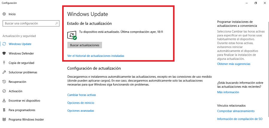Actualización windows update