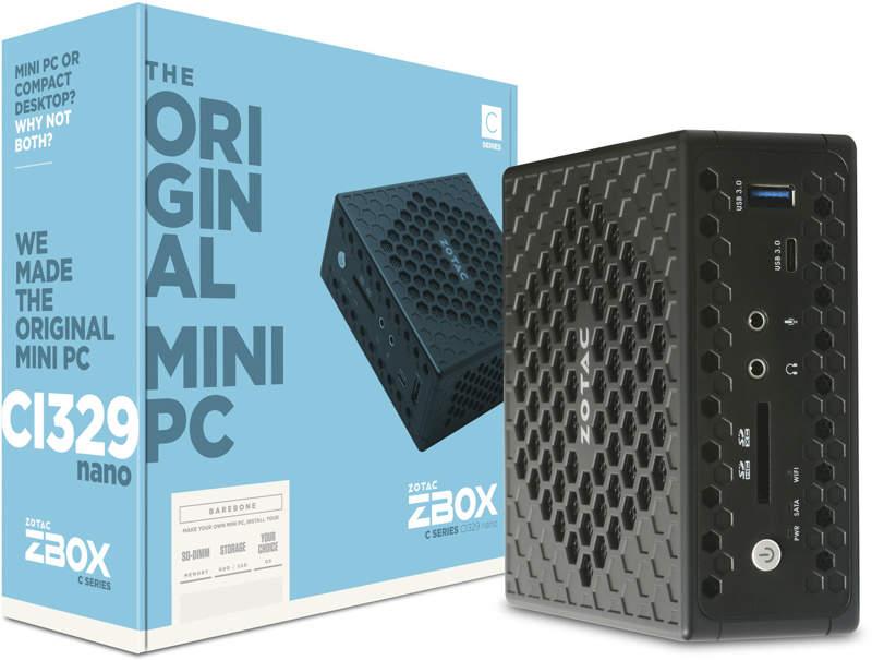 ZOTAC ZBOX CI329 Nano con procesador Gemini Lake y refrigeración pasiva